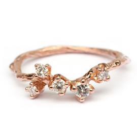 Ring Fay in roodgoud met diamanten
