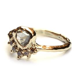Ring met antieke roosdiamant