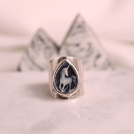 Ring met unicorn