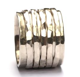 Ring met zilveren bandjes
