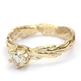 Grashalmring met diamant