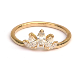 Ring met 5 marquise diamanten