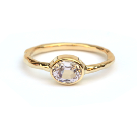 Ring met lila spinel