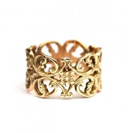 Gouden kanten ring