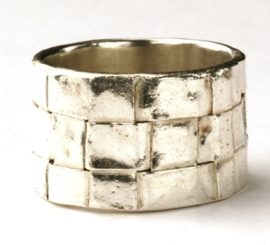 Weefring zilver
