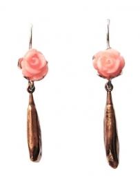 Oorhangers roosjes en brons