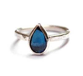 Ring met indicoliet tourmalijn
