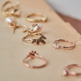 Ring met gouden tooi GERESERVEERD