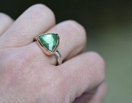Ring met groene toermalijn