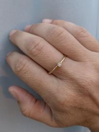 Naoki ring met fancy bruine diamant