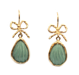 Festive earrings with turquoise