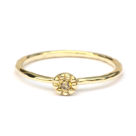 Naoki ring met olive diamant