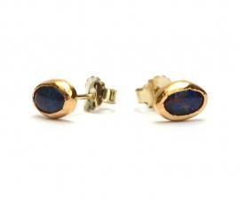 Oorstekers met blauwe opaal