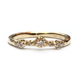 Ring Fela met light brown diamantjes