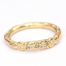 Ring Nala met natural brown diamantjes