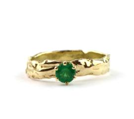 Verlovingsring met smaragd