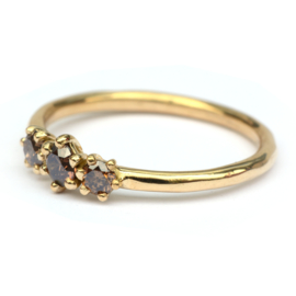 Ring met choco diamant