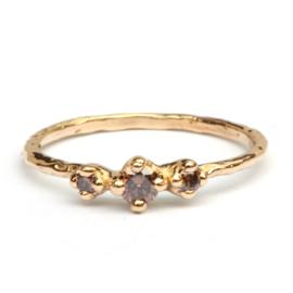 Ring Nico met drie chocodiamanten
