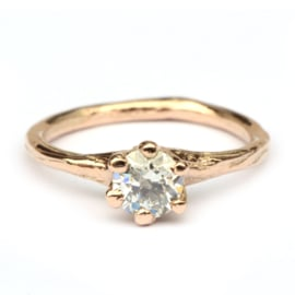 Nymph ring with old cut diamond