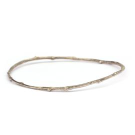 Zilveren twig armband