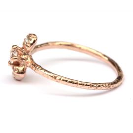 Bindi ring met witte diamant