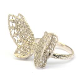 Zilveren vlinderring