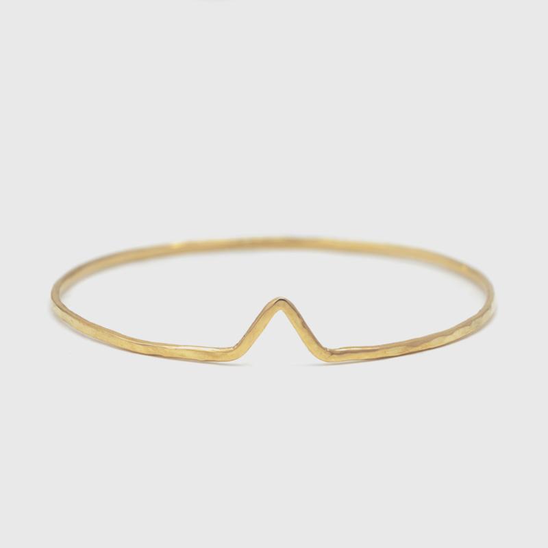 Geelgouden chevron armband 1,8 mm breed
