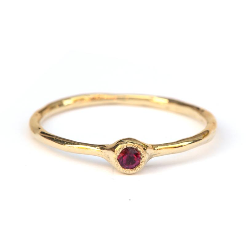 Millie ring met rozerode toermalijn