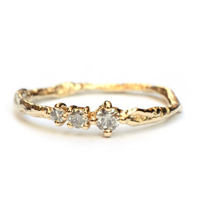 Feeny ring met salt & pepper diamanten
