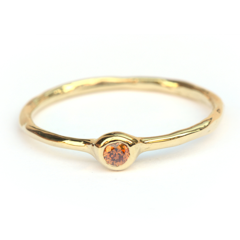Ring Millie met cognac diamant