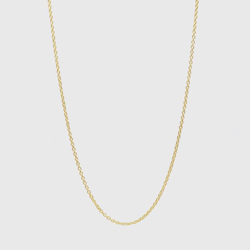Losse ankerketting geelgoud 1,1 mm   42 - 45 - 50 cm