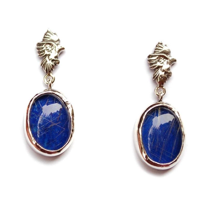 Blue bird oorhangers