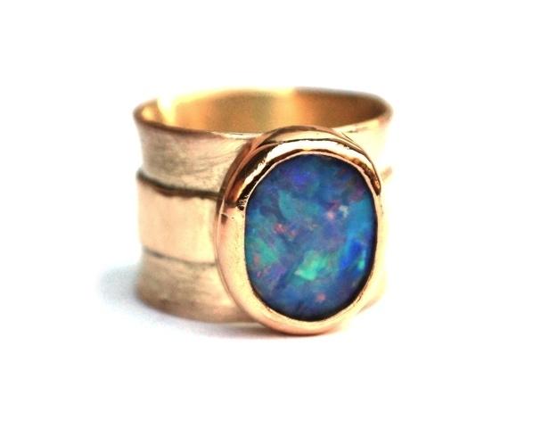 Ring met opaal voor Margreet