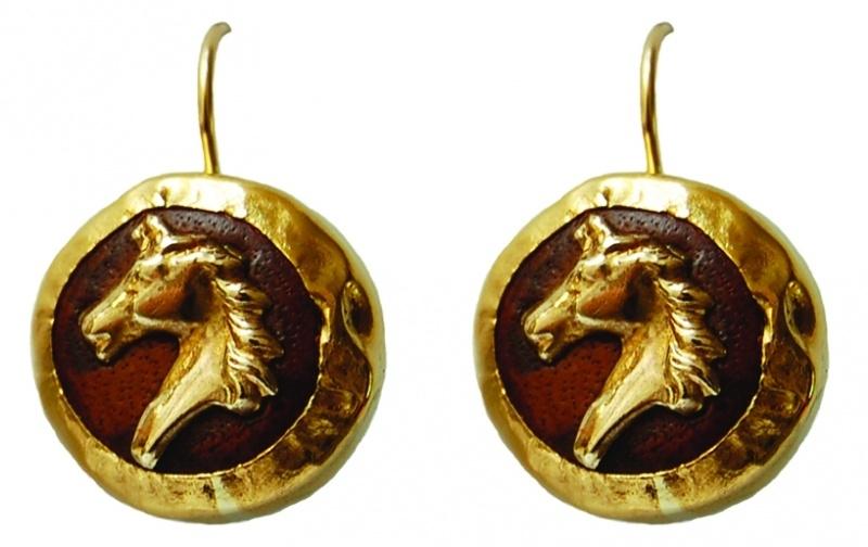 Paardjesoorhangers goud en leer