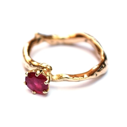 Ring for Debbie from her own gold with a ruby