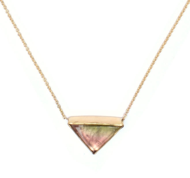 Fine chain with triangle tourmaline
