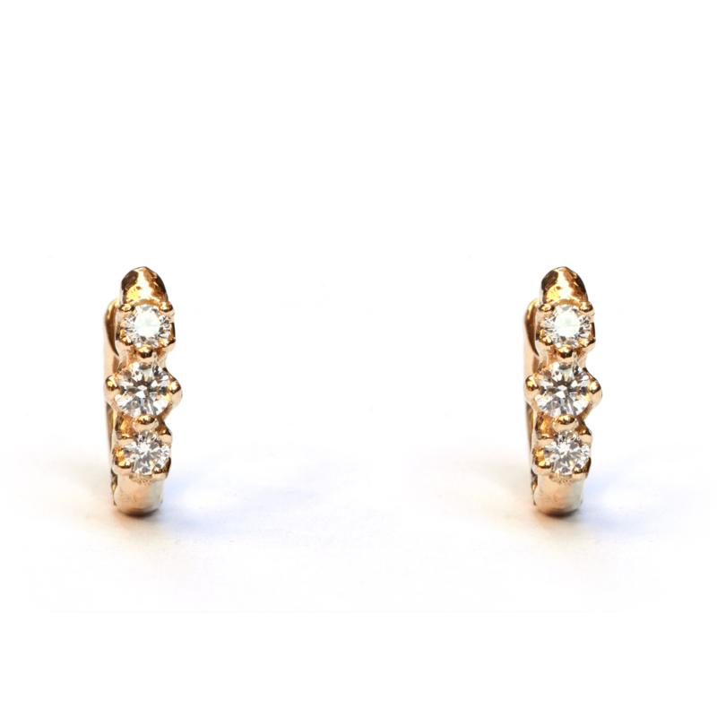 Twiggy oorringen met diamant