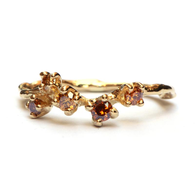 Ring Fay met cognac diamanten