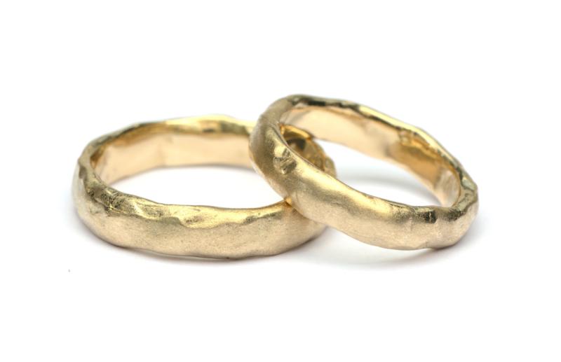 Robuuste trouwringenset