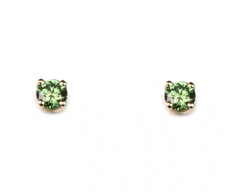 Oorstekers met mintgroene diamantjes