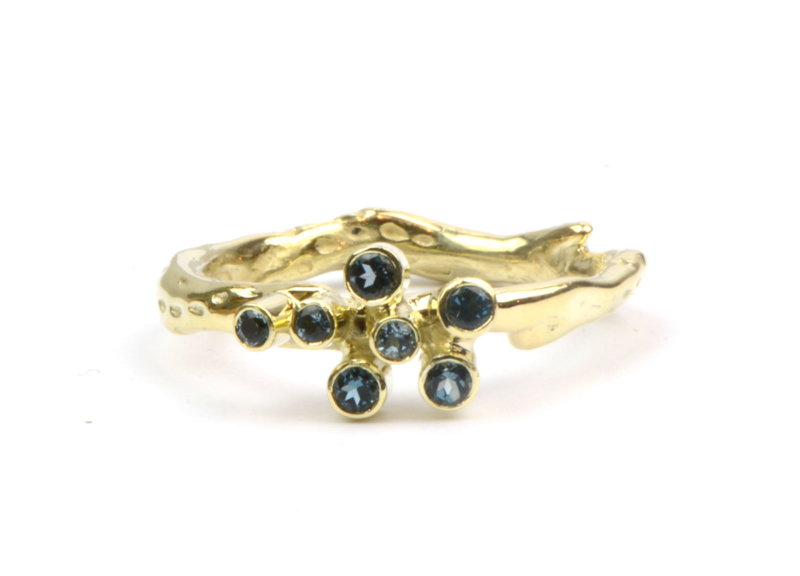Ring met London Blue Topaas