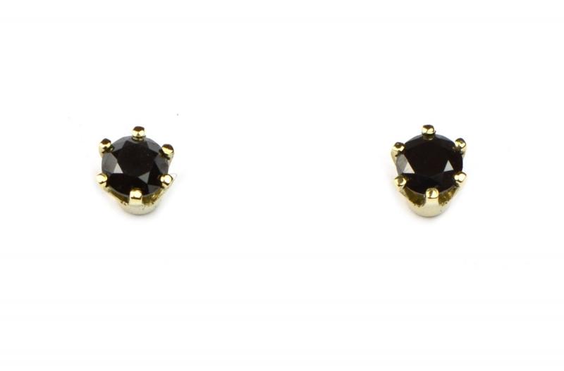 Oorstekers met zwarte diamantjes