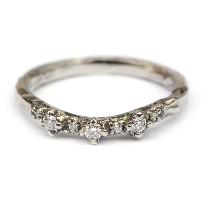 Gina ring in witgoud met diamanten