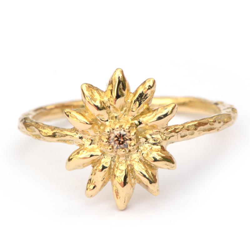 Ring Eden met choco diamant