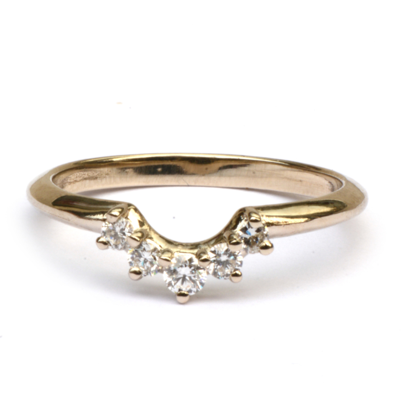 Stackring met diamantjes