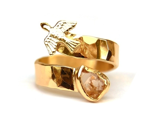 Free as a bird ring van fairtrade goud