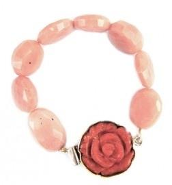 Roze opaal armband