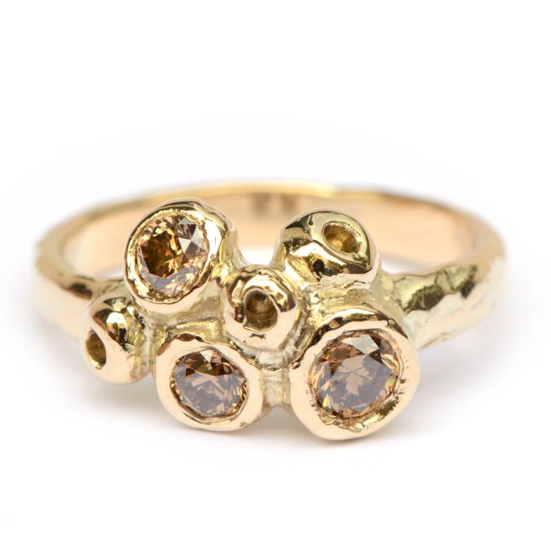 Ashanti ring met choco bruine diamanten