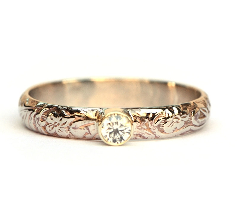 Ring bohemien met diamant