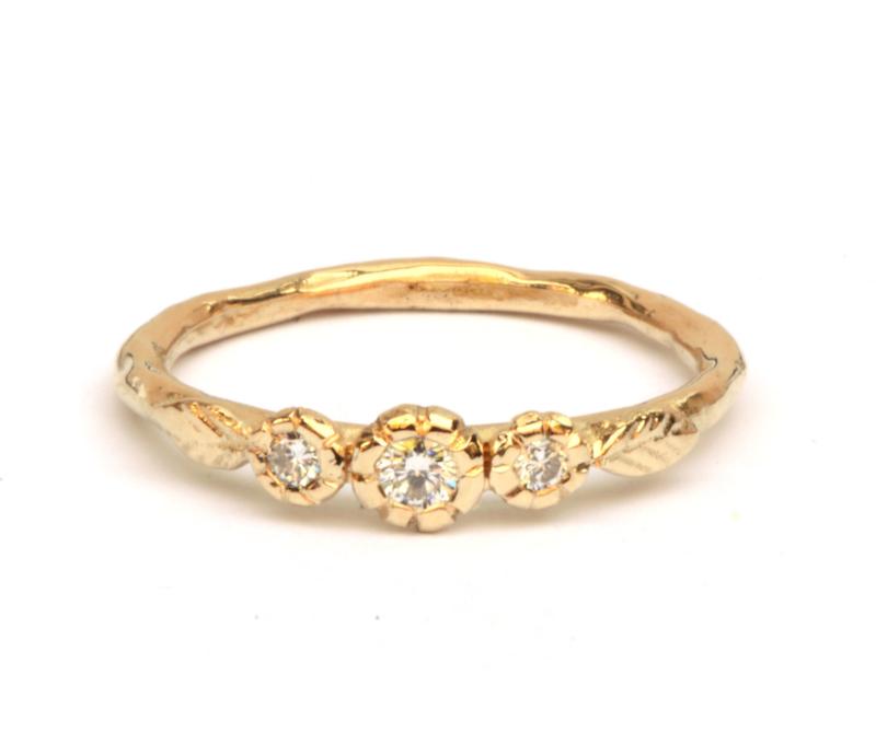 Lentering met diamanten